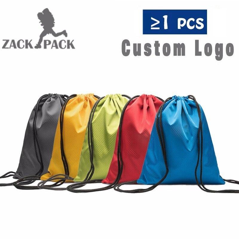 10PCS Drawstring Bag Waterproof Sack Customize Logo Oxford Backpack Nylon Rope Women Small Sports Storage Bags