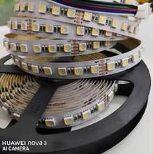 16.4ft dc24v 30w 12mm fpbc 480leds 4 em 1 5050 smd led luz de tira rgbw rgbww luz regulável e temperatura de cor ajustável