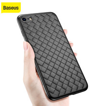 Baseus Creative Weave Case Voor Iphone 6 6S Luxe Ultra Dunne Slim Grid Weven Siliconen Gevallen Voor Iphone6 6S Plus Tpu Cover(China)