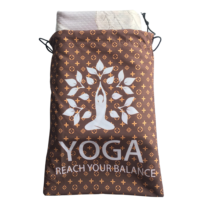 Portable Microfiber Yoga Towel Bag Drying Swimming Gym Camping Light Weight Summer Round Microfiber Towel Yoga Towel Bags