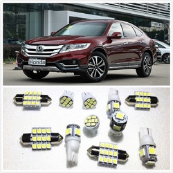 11 set White LED Lights Interior Package T10&31mm Map Dome For Honda Crosstour Civic City Accord CR-V2000-2019