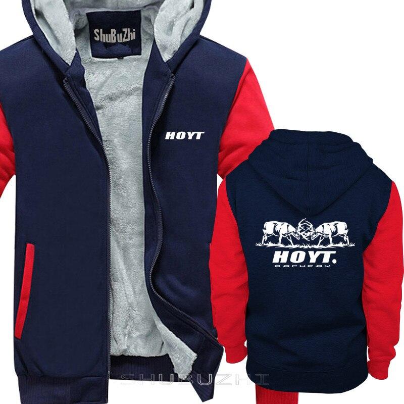 Image 3 - thick jacket men brand clothing new short warm coat Hoyt Archery  Fighting Bucks loose fashion brand mens hoodies sbz5074Hoodies