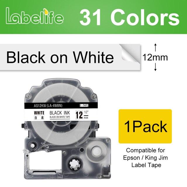 Labelife 1 حزمة SS9KW SS12KW متعدد الألوان 9/12 مللي متر متوافق لإبسون/الملك جيم تسمية طابعة LW-300 LW-400 LW-600P LC-4WBN9 SS12KW