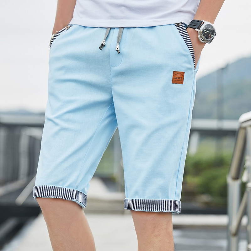 Men Casual Summer Plaid Patchwork Pockets Buttons Fifth Pants Loose Beach Shorts Male Summer Sports Workout Bottoms Clothing 2
