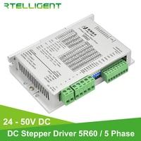 Rtelligent 5R60 5 Phase Stepper Motor Driver AC/DC Motor Driver Controller for Nema17 23 CNC Kit Stepper Motor Wood Router