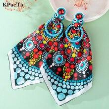 KPacTa 2021 vintage Ethnic Bohemia Drop Dangle Cloth Ladies Earrings For Women Tassel Earrings Soutache Jewelry Party Gift