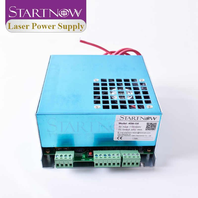 Startnow 40W-GS fuente de alimentación láser 40W PUS MYJG-40 25W 30W Watt para DIY 4060 CO2 tubo láser cortador para esculpir piezas de repuesto de la máquina