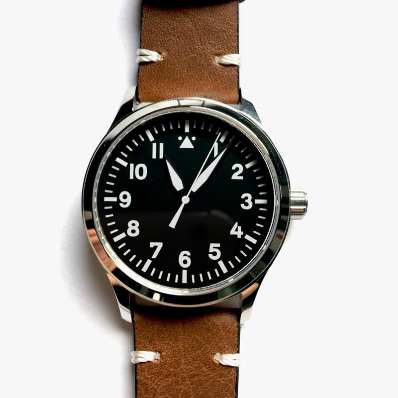 Mens Automatic Orologi Corgeut 42 millimetri Zaffiro Gabbiano 1612 Quadrante Nero bianco marchio di sesso maschile Luminoso orologio da polso Meccanico verde-in Orologi meccanici da Orologi da polso su  Gruppo 2