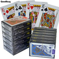 12 Pcs/Set 100% Plastic Playing Cards Set Waterproof Durable Texas Hold'em Poker Card Plastic Indoor Board Game Casino PVC Card