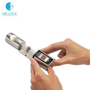 Image 4 - Интеллектуальный биометрический сканер отпечатков пальцев Дверной замок для умного дома fechadura цифровой cerradura inteligente