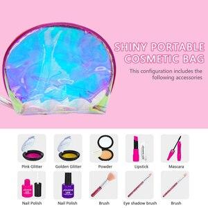 Детская одежда для девочек, нарядное платье для макияжа, комплект игрушек, косметический комплект принцессы с сумочкой для дня рождения, Ро...