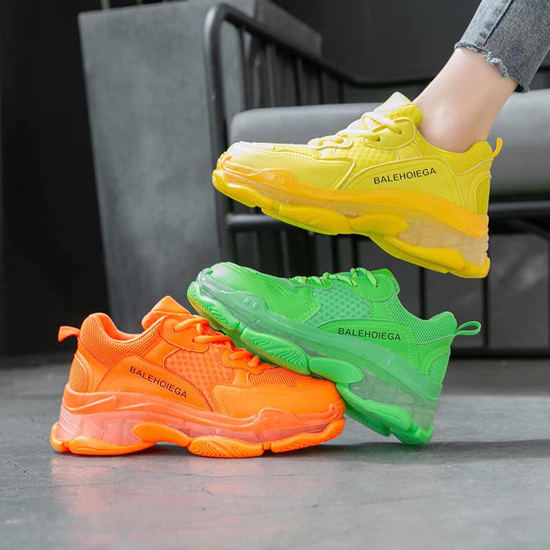 YRRFUOT/Новая Осенняя женская обувь на толстой подошве; Высококачественная удобная спортивная обувь; уличная Нескользящая женская обувь; обувь для бега