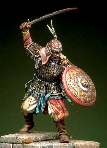 1/18 90mm   Ancient  Warrior Stand With Shield (WITH BASE ) Resin Figure Model Kits Miniature Gk Unassembly Unpainted