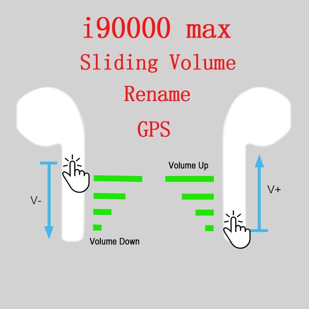 I90000 max tws sans fil écouteur peut renommer Bluetooth 5.0 écouteurs Super basses écouteurs contrôle du Volume PK i5000 90000 pro TWS