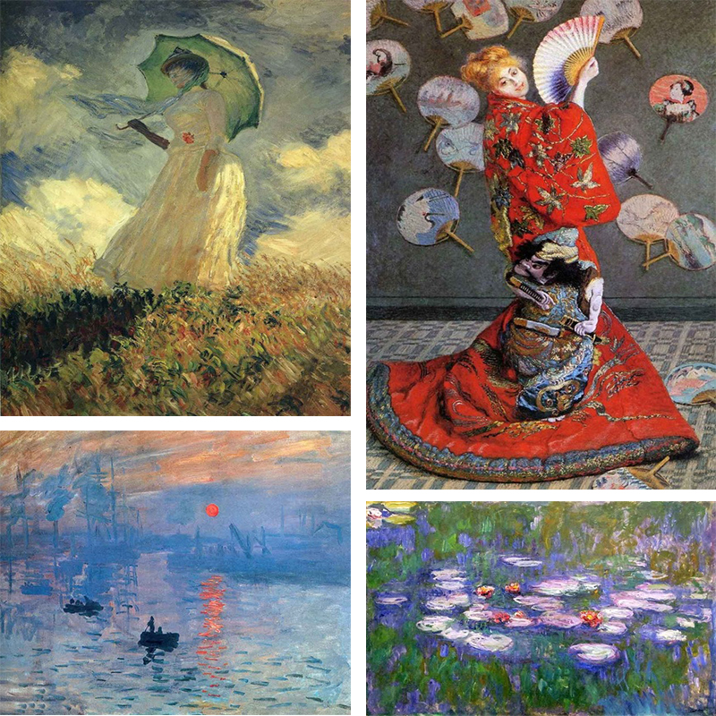 Famous Fr Painter Claude Monet Series 5D DIY Diamond Painting Full Square/Round Diamond Embroidery Picture Home Decor 20CMX30CM