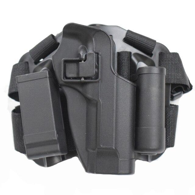 Tactical Pistol Bein Holster Für Beretta 92 96 M9 Mit Magazin Und Taschenlampe Pouch Rechts Hand Schnell Freigegeben Oberschenkel Holster