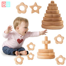 Juguetes de madera para bebés Montessori Jenga educativo juguetes de bloques de construcción creativa de juego libre de BPA, desarrollo intelectual de juguete