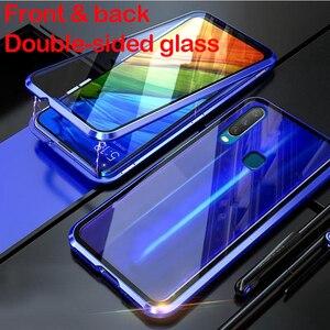 Для Xiaomi Mi 10 Pro Pocophone F1 магнитный металлический каркас бампер передний и задний двухсторонний противоударный чехол из закаленного стекла для ...