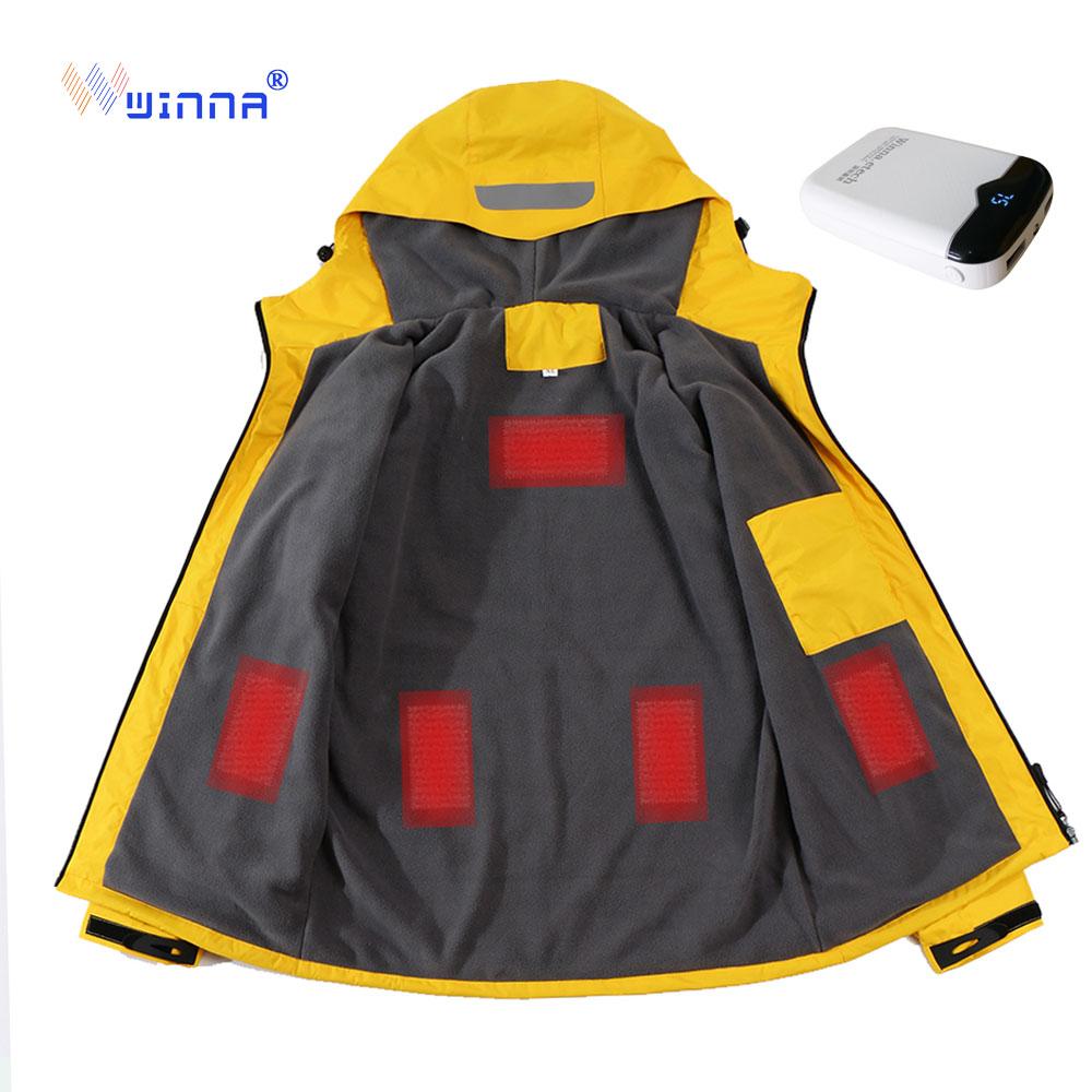 2019 Winter Heated Jacket Men Women Outdoor Sport Polar Coats Fleece Jacket Ski IngTrekking Camping Hiking Clothing
