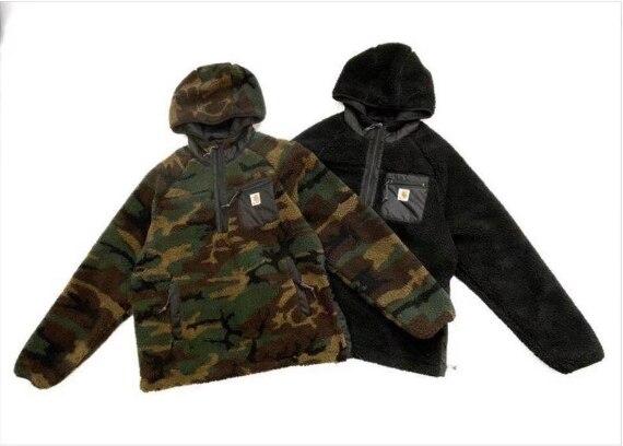 Outono e inverno nova rua moda masculina cordeiro-como grosso quente jaqueta moda casual solto homem e mulher casal hoodies