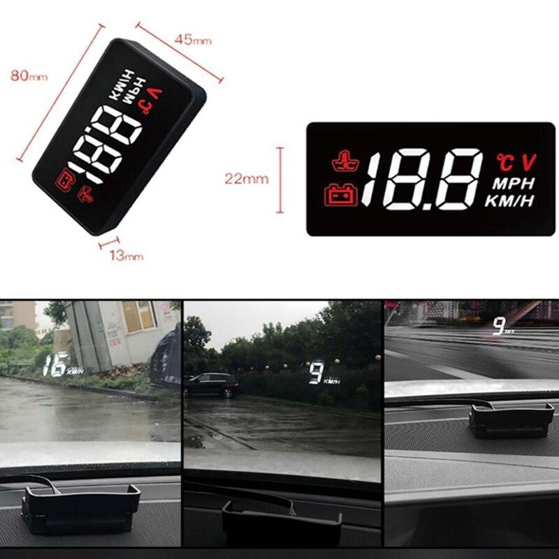 New car HUD head-up display A100 OBD2 II EUOBD overspeed warning system Projecto