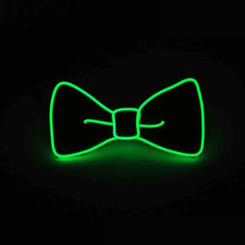 Fashion Men LED EL Wire Necktie Luminous Neon Flashing Light Up Bow Tie For Club Cosplay Evening Party Decoration S55