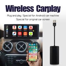 Jiuyin apple carplay sem fio android auto ligação inteligente usb dongle para carro android navegação jogador carplay interconexão telefone