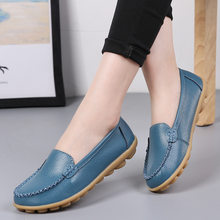 Spring Summer Women Shoes 2020 Hot Loafers Women Flats Leather Shoes Ballet Flats Nurse Shoes Ladies Moccasins Free Shipping(China)
