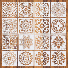 Painting Drawing Stencils Mandala Template for Stones Floor Wall Tile Fabric Wood Burning Art&Craft Supplies -reuseable