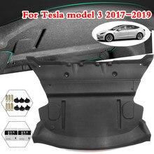Tapis de coton insonorisant pour coffre arrière de voiture, 2 pièces, pour Tesla modèle 3 2017 2018 2019 2020