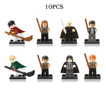 LEGO Blocks Figure Dolls 8Pcs/Set Harry Potter Hermione Ron Lord Voldemort Figures Christmas or Birthday Gift Toys for Childrens image
