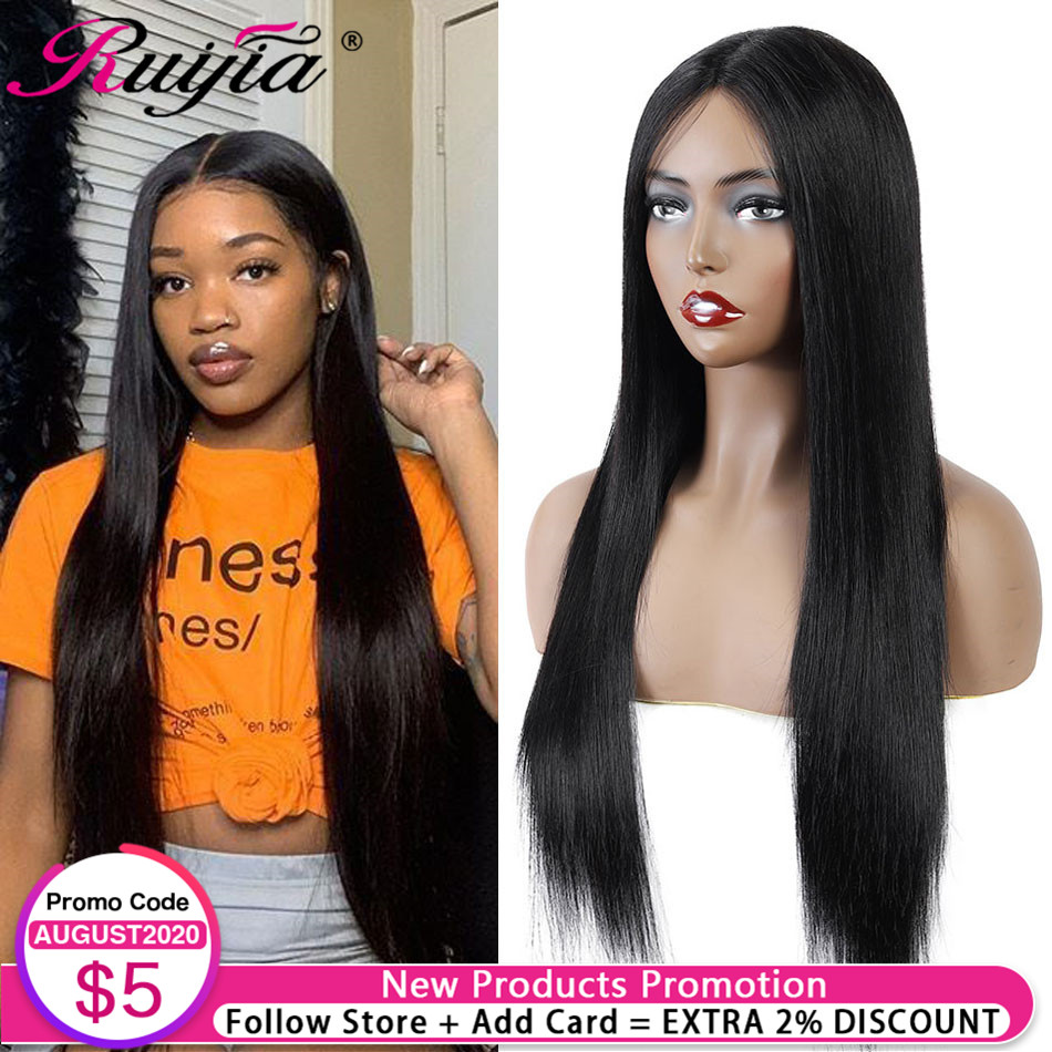 Brazilian Human Hair Wigs For Women Hairline Lace Wig Middle Part 24inch Long Remy Human Hair Wig Straight Machine Made Full Wig