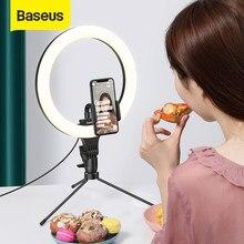 Baseus – anneau lumineux LED avec trépied et variateur, USB, pour Selfie, grande photographie, support pour téléphone portable