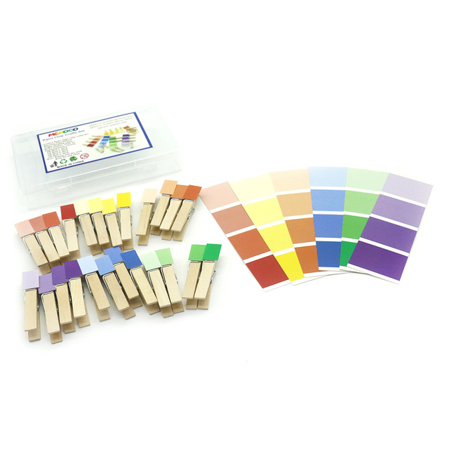 Montessori Wood Color Sorting Clips Game Educational Toys For Toddlers Color Learning Sensory Toys Juguetes Montessori K0644H