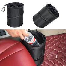 1Pc Preto Carro Lata de lixo Saco Pacote de Saco de Lixo de Carro para Pouco Vazamento de Prova À Prova D' Água Saco Do Refrigerador Do Carro-Carro de Lixo Saco com Bolso Lateral