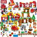 Набор строительных блоков Happy Farm большого размера, счастливый зоопарк с животными, детский городской бренд, блоки, пожарные игрушки для дете...