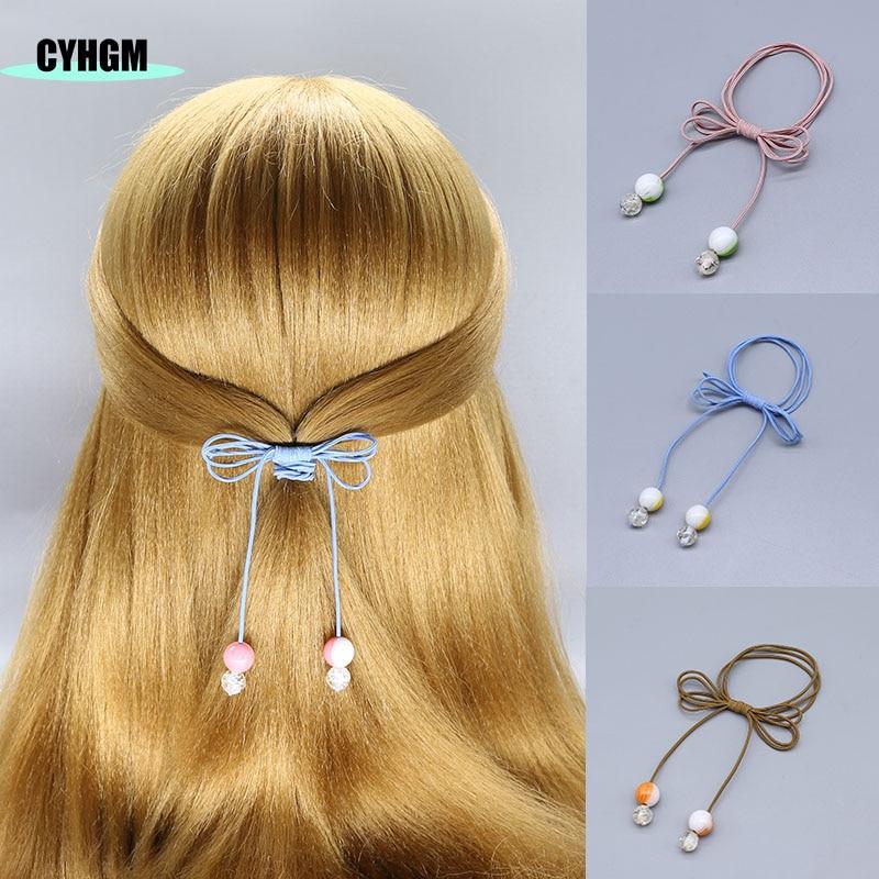 Wholesale Girls Elastic Hair Bands Hair Rubber Band Hair Velvet Scrunchies Pack Hair Ties For Women's Hair Accessories F17-1