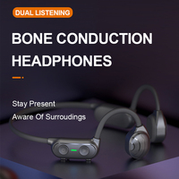 AS10 TWS Bluetooth Kopfhörer Knochen Leitung Bluetooth Wireless Sport IP56 Headset Stereo Hände-freies Mit Mikrofon