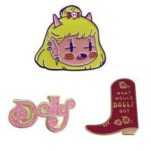 Broche de musique Country, jolie broche démon pour fille, que ferait un dolly? Badge de botte partagez votre amour pour Dolly Parton partout où vous allez!