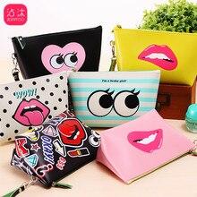 Hot Selling Modern Girl Makeup Bag Pu Creative Coin Purse Large Capacity Waterproof Storage Clutch Travel Kit