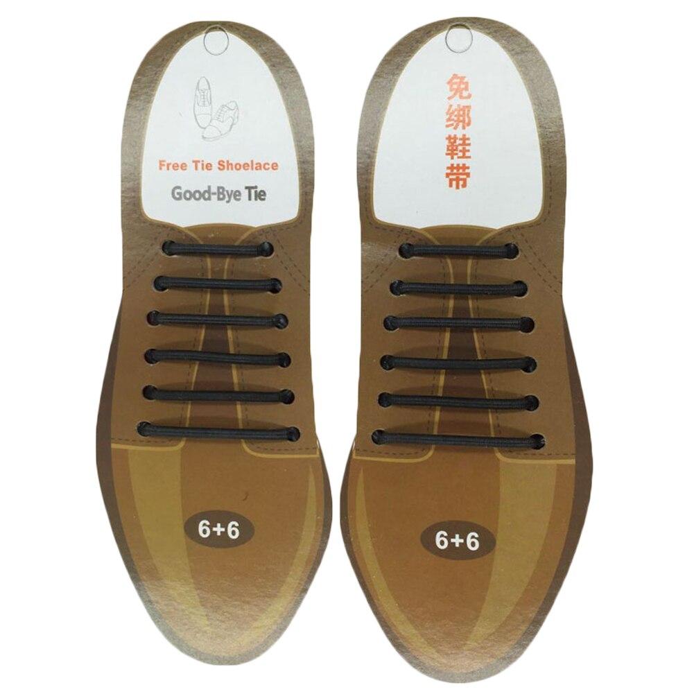 10pcs/lot Silicone Shoelaces Elastic Shoe Laces Special No Tie Shoelace For Men Women Lacing Rubber Zapatillas 2 Colors
