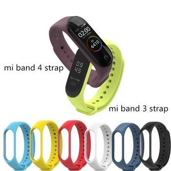 For MI band 4 bracelete for Xiaomi Mi Band 3 Sport Strap watch Silicone wrist strap xiaomi Miband mi