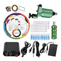 Professional Complete Tattoo Kit Rotary Liner Shader Machine Inks Starter Supply US/EU/UK Plug Complete Beginner Easy to Use