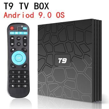 T9 Android TV Box Android 9.0 4GB 32GB 64GB Smart TV Rockchip 1080P H.265 4K GooglePlay 2GB 16GB media player PK H96 max