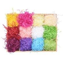 100g Papier Bast Geschreddert DIY Geschenk Box Füllung Crinkle Papier Konfetti für Hochzeit Festival Geschenk Box Gefüllt Dekoration Liefert
