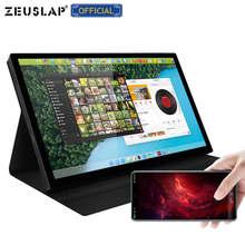 ZEUSLAP 8.9 calowy ekran dotykowy przenośny Monitor 1920*1200p USB C HDMI LCD dotykowy Monitor do aparatu Laptop telefon przełącznik PS5 4