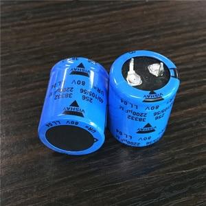 Image 2 - 10pcs 2200uF 80V Vishay 256 Series 25x30mm 80V2200uF Sanp in PSU Aluminum Electrolytic Capacitor