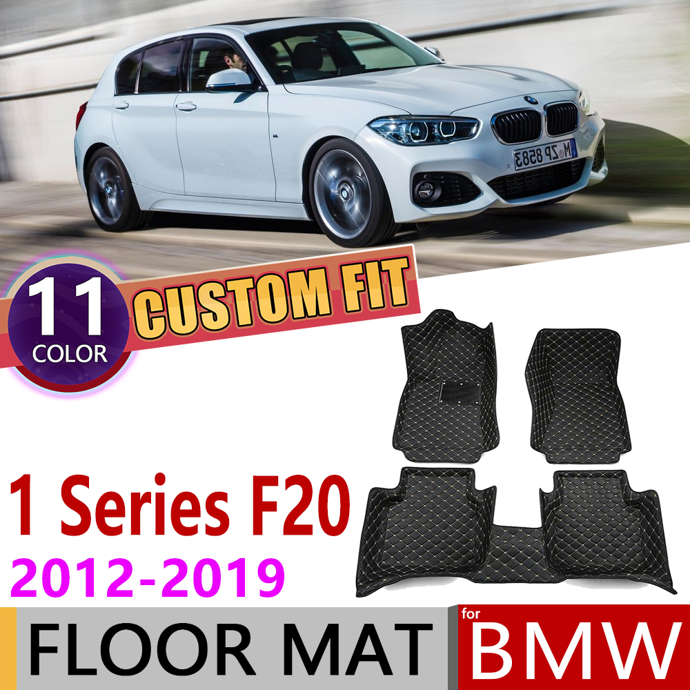 Custom Leather Car Floor Mat for BMW 1 Series F20 5 door Hatch 2012~2019 5 Seats Foot Pad Carpet Accessories 2013 2014 2015 2016|Car Stickers| |  - title=