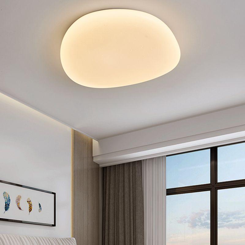 Moderno quarto contratado absorve luz cúpula lâmpada