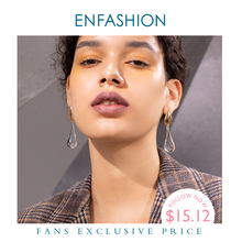 ENFASHION Wasser Tröpfchen Kristall Ohrringe Für Frauen Gold Farbe Lange Baumeln Ohrringe Modeschmuck Dropshipping E191145